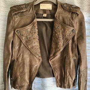 Awesome studded leather William Rast Jacket XS